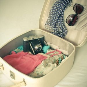 Unpacked-suitcase